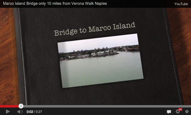 Video from the top of Marco Island Bridge